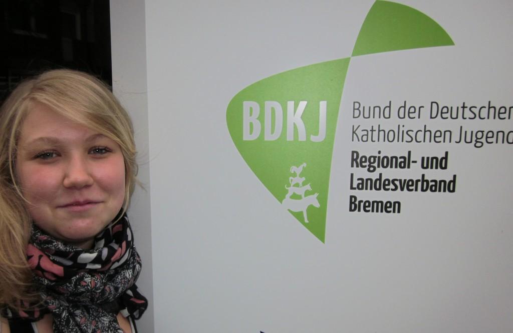 Anna in ihrer ersten Woche beim BDKJ
