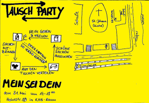 Flyer BDKJ Tauschparty